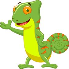 Free Chameleon Cartoon Stock Photo - 33233640