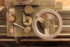 Part Of The Old Lathe. Royalty Free Stock Photos