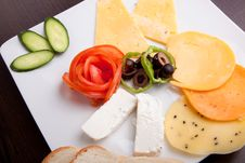 Free Cheese Plate Royalty Free Stock Photo - 33239035