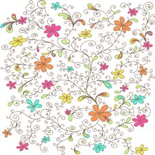Free Decorative Floral Pattern Colored Stock Photos - 33243283