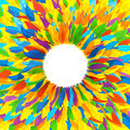 Free Wreath Of Multicolored Sunflower Petals Royalty Free Stock Photography - 33259297
