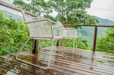 Free Chairs In A Tropical Resort Stock Image - 33259141