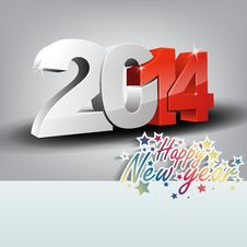 Free New Year Greeting Card Stock Photo - 33259810