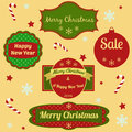 Free Set Of Christmas And New Year Frames And Elements Stock Photo - 33260870