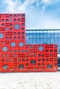 Free Modern Building With Red Wall Stock Photo - 33265140