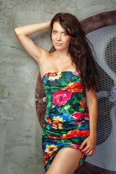 Free Girl In Studio Stock Image - 33261481