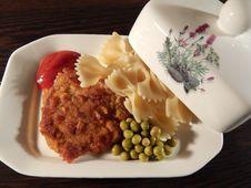 Noodles And Pork Chop Stock Images