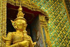 Free Giant At Wat Phra Kaew Bangkok, Thailand Stock Photos - 33264233