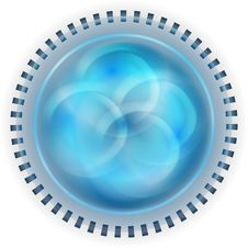 Free Blue Abstract Circle Royalty Free Stock Photography - 33264297