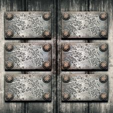 Free Old Metal Plate On Metallic Wall Royalty Free Stock Photos - 33265288