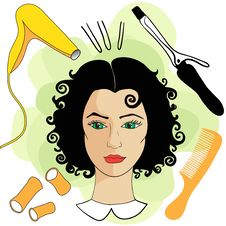 Woman In A Beauty Salon Stock Photos