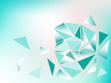 Blue Background With Triangles On It Stock Images