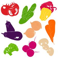 Free Vegetables Vector Collection Royalty Free Stock Photo - 33265745