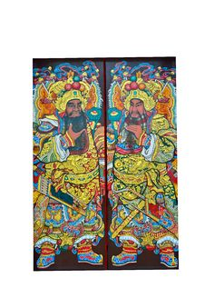 Chinese Door God Stock Photos