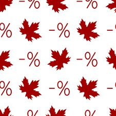 Free Autumn Discount Seamless Pattern With Percent Symb Stock Photo - 33273610