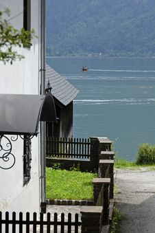 Alleyway To The Lake In Hastadtt Stock Images