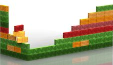 Free Many Colored Bricks Wall Royalty Free Stock Photo - 33277525
