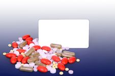 Free A Lot Of Colorful Pills, Space For Text Royalty Free Stock Image - 33277876