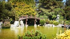 Bridge In Japanese Garden Royalty Free Stock Photos