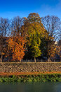 Free Autumn Trees Near The River Royalty Free Stock Images - 33291079