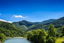 Free River  Going Into The Mountains Royalty Free Stock Photo - 33291235