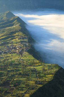 Free Bromo Mountain In Tengger Semeru National Park At Sunrise, East Stock Photo - 33293960