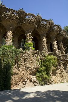Free Spain. Barcelona. Park Guell. Royalty Free Stock Photos - 33297928