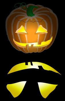 Free Jack O Lantern Black Backgroun Royalty Free Stock Image - 3330606