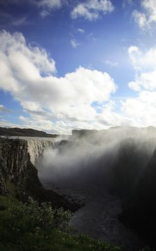 Free Man Looking Over Dettifoss Stock Photo - 3330610