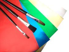 Free Three Paint Brushes Stock Photography - 3331322
