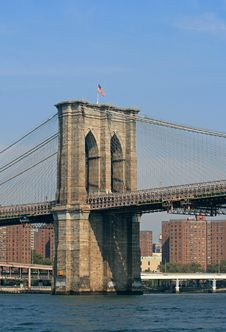Free The Brooklyn Bridge Stock Photo - 3331370