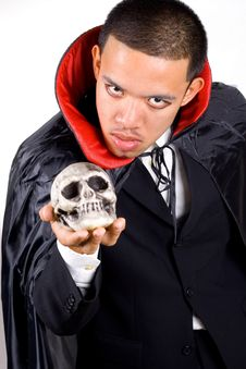 Free Scary Man In Cape Stock Photo - 3331580