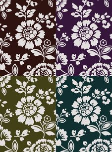 Free Floral Texture Set 1 Royalty Free Stock Photography - 3331867