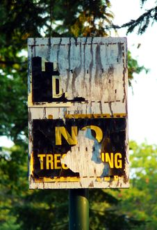Free No Trespassing Stock Images - 3332464