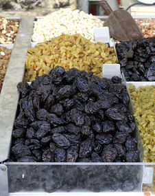 Free Prunes On Display Stock Image - 3332651