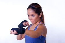 Free Female Sports Fighter Stock Image - 3332851