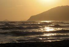 Free Sunset On The Sea Stock Photo - 3333150