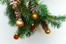 Free Christmas Ornament-silver Hear Stock Photo - 3333170