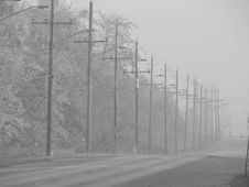Fog Road Royalty Free Stock Photography