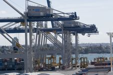 Wharf Container Cranes Royalty Free Stock Images