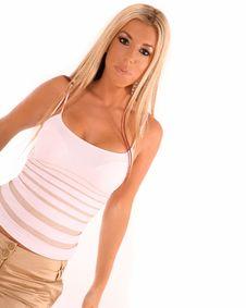 Free Beautiful Blond Latina Royalty Free Stock Image - 3337806