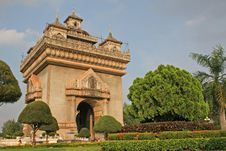 Free Patuxai Victory Monument Stock Photography - 3337932