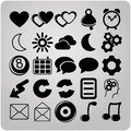 Free Set Of 25 Web Icons Royalty Free Stock Photo - 33302875