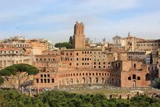 Forum Of Trajan In Rome Royalty Free Stock Image
