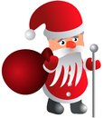 Free Santa Claus With A Bag And A Staff Royalty Free Stock Photos - 33318198