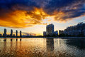 Free The Sunset Glow On Lake Stock Photo - 33318560