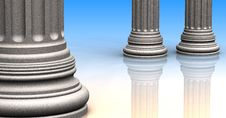 Free Classic Columns Royalty Free Stock Images - 33311259