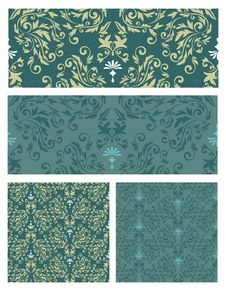Free Seamless Pattern Set Vector Eps8 Royalty Free Stock Photos - 33318868