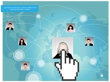 Free Social Networking Concept Design. Stock Images - 33321454