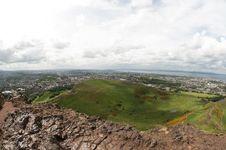 View From Arthur S Seat, Edinburgh Stock Image